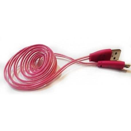 کابل شارژر OTG چراغ دار , خرید عمده لوازم جانبی موبایل , پایین ترین قیمت لوازم موبایل