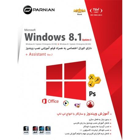 نرم افزار Windows 8.1 Update 3 + Assistant (Ver.7) قیمتپشت جلد 13000