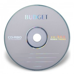 CD BUDGET بسته 50 تايي سی دی خام باجت فله شرینگ
