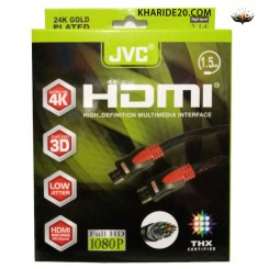 کابل HDMI JVC کنفی 1.5متری درجه یک