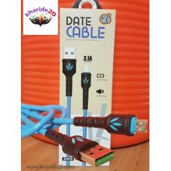 کابل گندمی فست شارژ A904 Micro مدل Date Cable