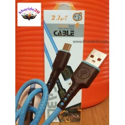 کابل فست شآرژ 2.1 آمپر سیم قوی Microمدل Date BLUE Cable