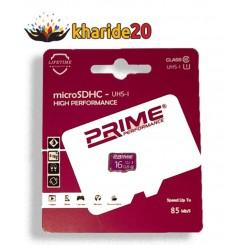 رم 16 گیگ کارتی پرایم 85MB/S PRIME CLASS10 U1