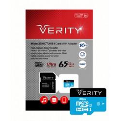 رم میکرو VERITY C10 U1 65 Mb/s 16GB همراه با خشاب