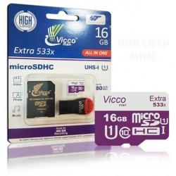 رم میکرو 16گیگابایت Vicco man 533X U1 80MB/s