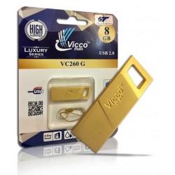 فلش مموری 8گیگ Vicco man VC 260 GOLD