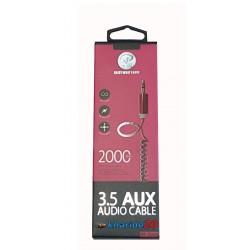 کابل AuX فنری پک دار 3.5AUX XP