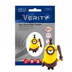 فلش مموری 16 گیگ وریتی عروسکی flash memory16GB verity T211