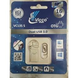 فلش مموری وایکو 16 گیگ| FLASH VICCO VC135 S 16 GB