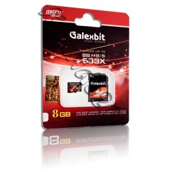 رم میکرو هفت رنگ پکدار Galexbit 8GB 80mb/s