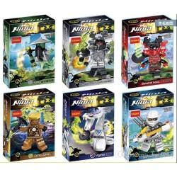 اسباب بازی ساختنی لگو ninja mini figures مدل no:10047-10052