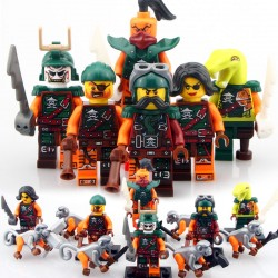 اسباب بازی ساختنی لگو ninja mini figures مدل no:10035-10040