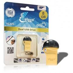 فلش مموری وایکو 8 گیگ | VICCO 125G 8GB /OTG GOLD