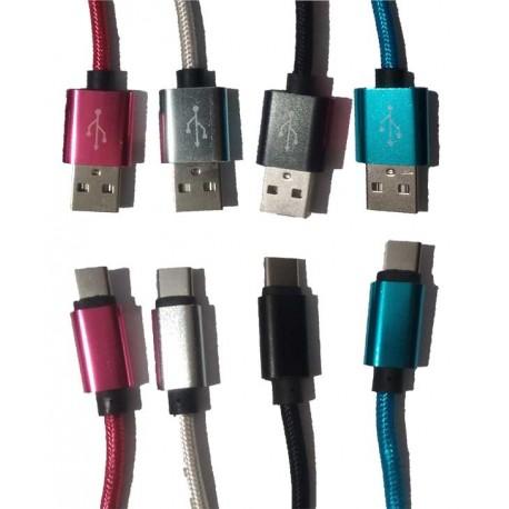 کابل شارژر Type-C SAYAN ابریشمی , قیمت عمده لوازم موبایل , قیمت همکاری لوازم موبایل