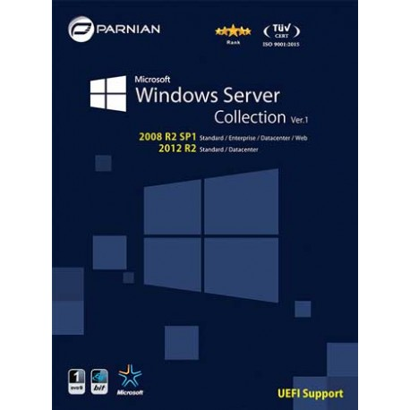 ویندوز سرور windows server collection  قیمت پشت جلد 130000 ریال  1DVD9