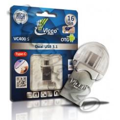 فلش مموری Type-C USB 3.1 VICCO 16GB VC400 S