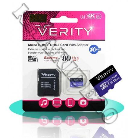 رم میکرو 16GB VERITY 533X 80 MB/s , پخش رم گوشی , رم موبایل عمده , رم 16عمده
