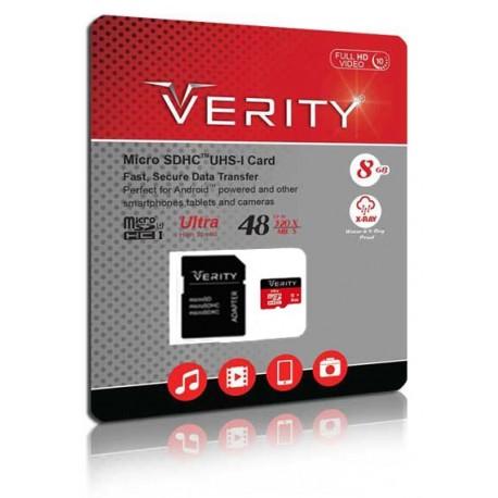 رم میکرو VERITY C10 U1 48 Mb/s 8GB همراه با خشاب