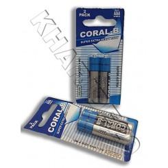 بسته 2 عددی باطری نیم قلم CORAL-B