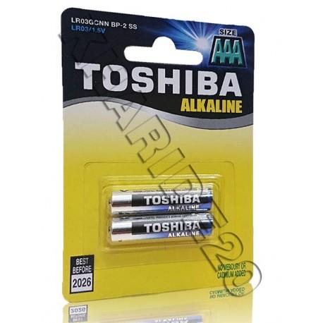 بسته 2 عددی باطری نیم قلم توشیبا TOSHIBA