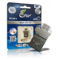 فلش مموری وایکو 32گیگUSB3 OTG|VICCO 130S 32GB