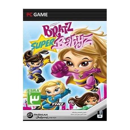 بازی کامپیوتری Bratz Super Babyz |قیمت پشت جلد3500 تومان