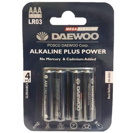 باتری نیم قلمی آلکالاین 4 عددی DAEWOO