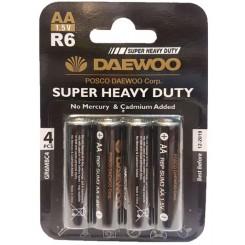 باتری قلمی کارتیSUPER HEAVY DUTY 4 عددی DAEWOO