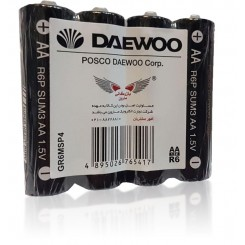 باتری نیم قلمی شیرینگ 4 عددی DAEWOO