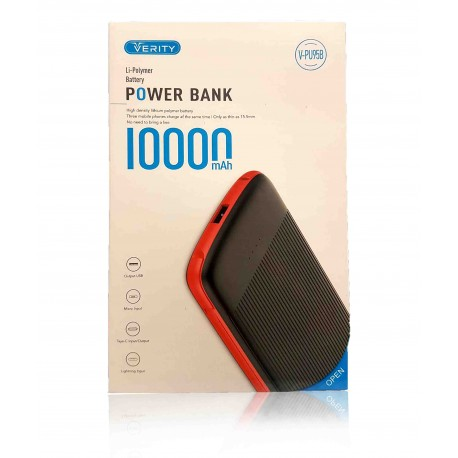 پاوربانک 10000MAH Verity مدل V-PU95