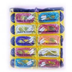 کابل کنفی رنگی پک 10تایی درجه یک CABLE AUX