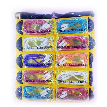 کابل کنفی رنگی پک 10تایی CABLE AUX