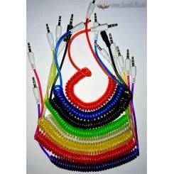 کابل AUX فنری رنگی