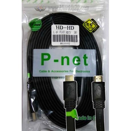 کابل HDMI سه متری فلت P-net