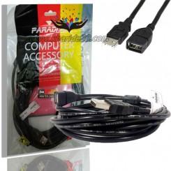 کابل افزایش طول USB سه متری PARADISE