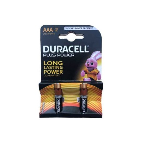 باتری نیم قلمی Duracell Plus Power دو عددی