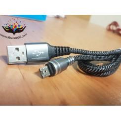 کابل شارژر و دیتا ابریشمی Micro طرح Date Cable