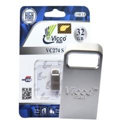 فلش مموری32GB گیگ Viking 274S تمام استیل